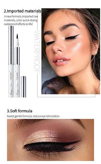 Pudaier long lasting eyeliner soft head quick-dry liquid eyeliner waterproof swe