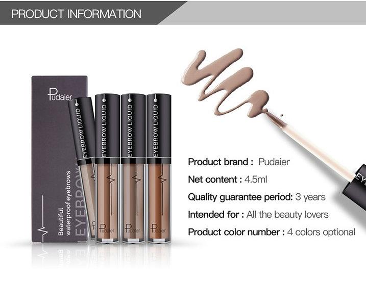 Pudaier New Enhance Eyebrow Shades Liquid Double end Brush Tool Tint Makeup Pain