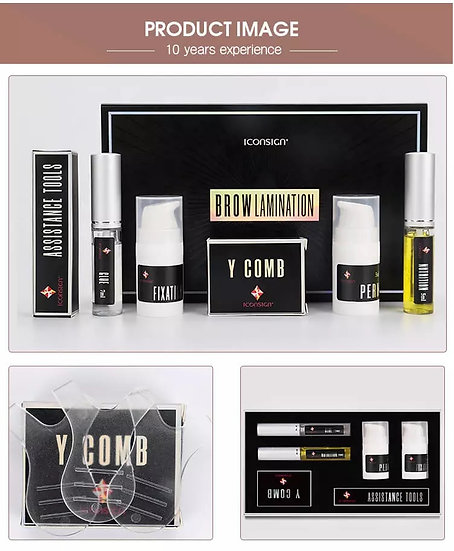 New Iconsign Premium High Quality Eyebrow Lamination Perming and Lifting Kit wit