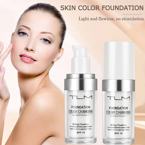 TLM Color Changing Foundation Liquid Base Makeup Change To Your Skin Tone