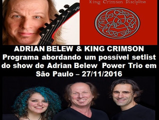 PÍLULAS DE ROCK 28 - NO AR - ADRIAN BELEW & KING CRIMSON