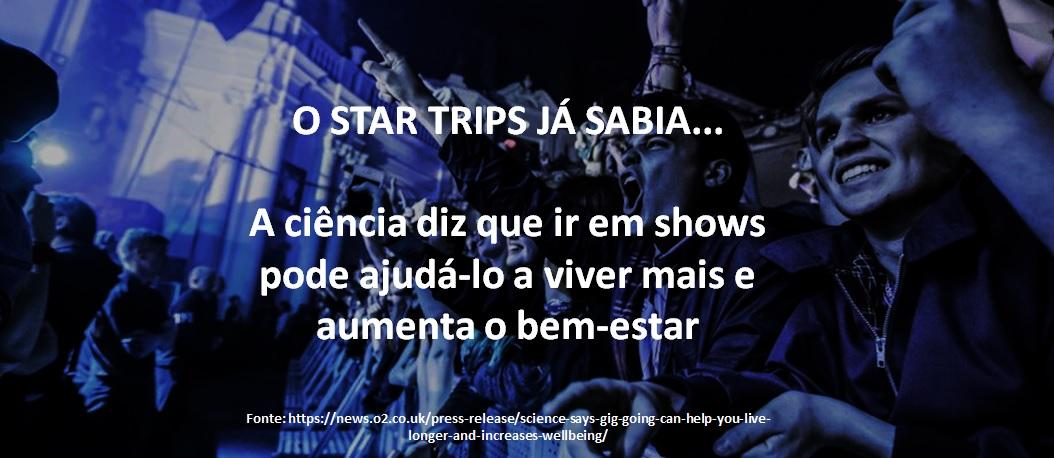 SHOWS... TEMPO DE VIDA E BEM ESTAR..
