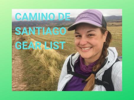 CAMINO DE SANTIAGO GEAR LIST