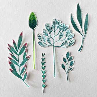 plants - teal.
