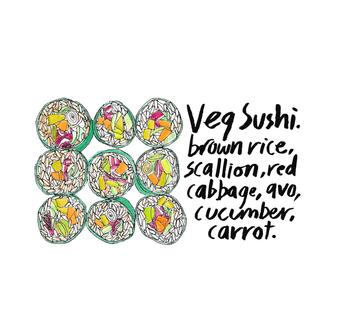 vegan sushi recipe.
