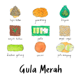indonesian snacks with gula merah 1.