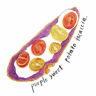 purple focaccia.