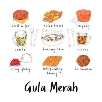 indonesian snacks with gula merah 2.