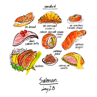 30 food chew - day 28, fav samon dishes.