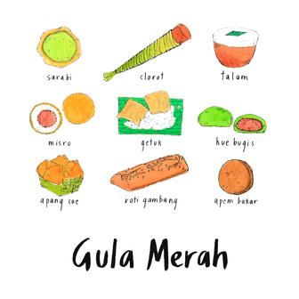 indonesian snacks with gula merah 3.