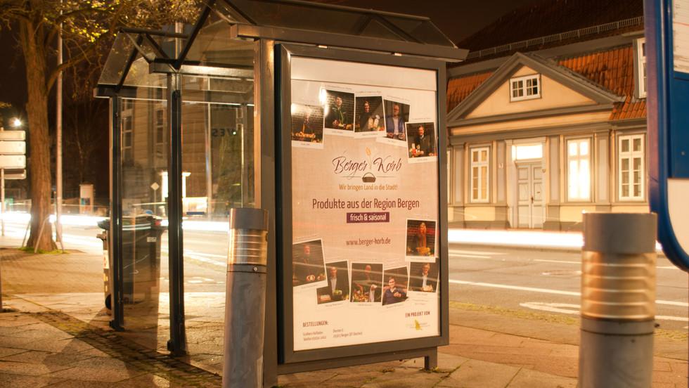 """Gestaltung City Light Plakat """"Berger Korb"""""""