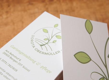 Dorota Obermüller - neues Branding für Garten- und Landschaftsgestalterin