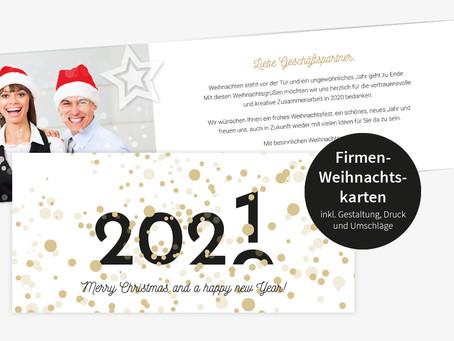 Aus der Weihnachtsdruckerei: Individuelle Firmen- & Vereins-Weihnachtskarten