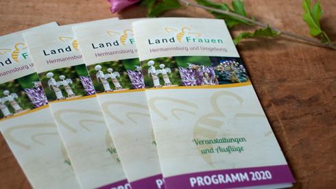 Programmflyer Gestaltung Landfrauen