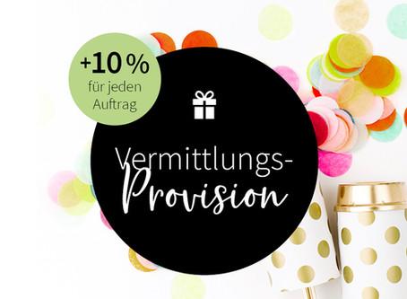 10 % Vermittlungs-Provision