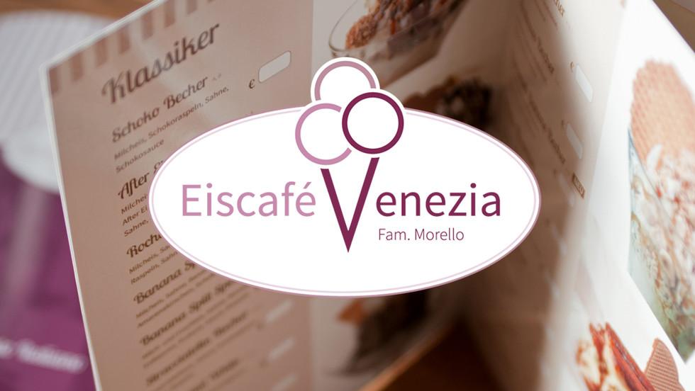 Eiskarten-Gestaltung und neues Logo für Eiscafé Venezia