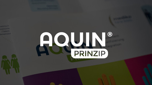 Logogestaltung Aquin Prinzip