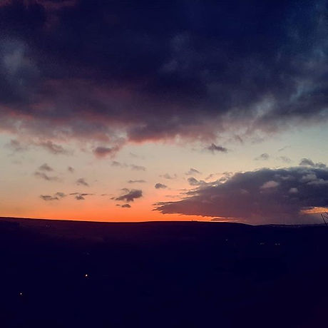 Beautiful sky above Cragg Vale during th
