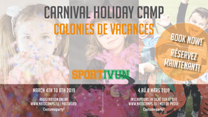 LAST CHANCE to book the Sportivun Carnival Camp!!!