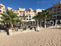 Beach behind the hotel
