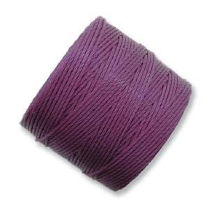 S-lon Bead Cord(grape) Plum - 77yd