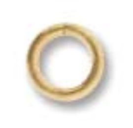 5mm Round Jump Ring 20g Gold Plate