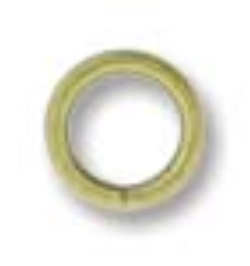 6mm Round Jump Ring Ant. Brass Plate