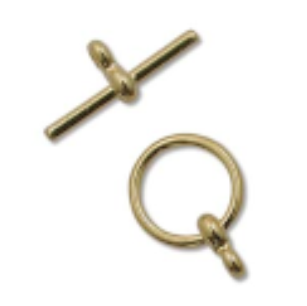 Toggle Gold BAR: 19mm RING: 12mm