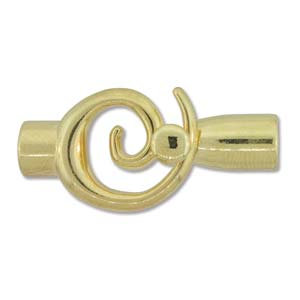 Small Gold Glue In Toggle Swirl W/6.2mm Id