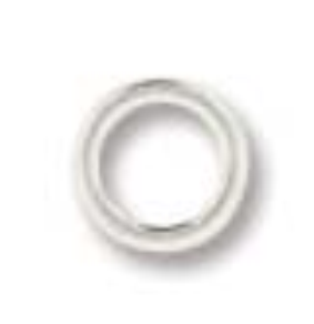 6mm 19g Jump Ring Silver Plate 100pcs