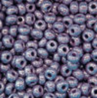 Purple Opaque Luster- Preciosa Czech 6/0 seed bead