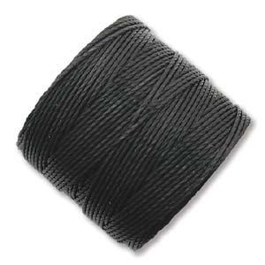 S-lon Bead Cord Black - 77yd