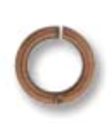 4mm Round Jump Ring Ant. Copper Plate