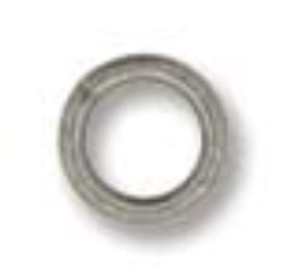 8mm Round Jump Ring 18g Ant. Silver Plate 144