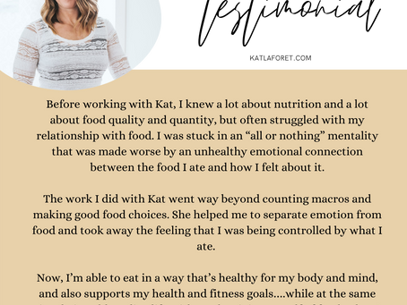 TESTIMONIAL - Success Isn't Always in the Weight Loss