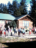 Lodge in 1960s with kids.JPG