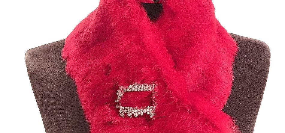 LADY RED cachecol de pêlo de coelho