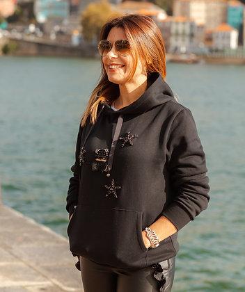 BEAR STAR BLACK sweatshirt
