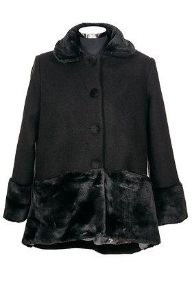 NICOLE casaco curto com pêlo