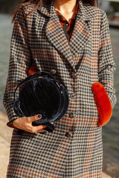 DULCE casaco pied-de-poule