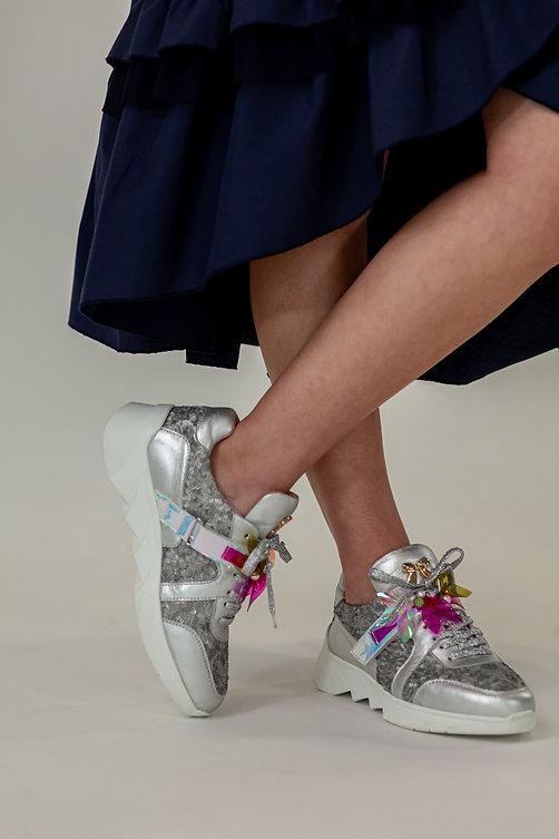 FANCY SILVER sapatilhas