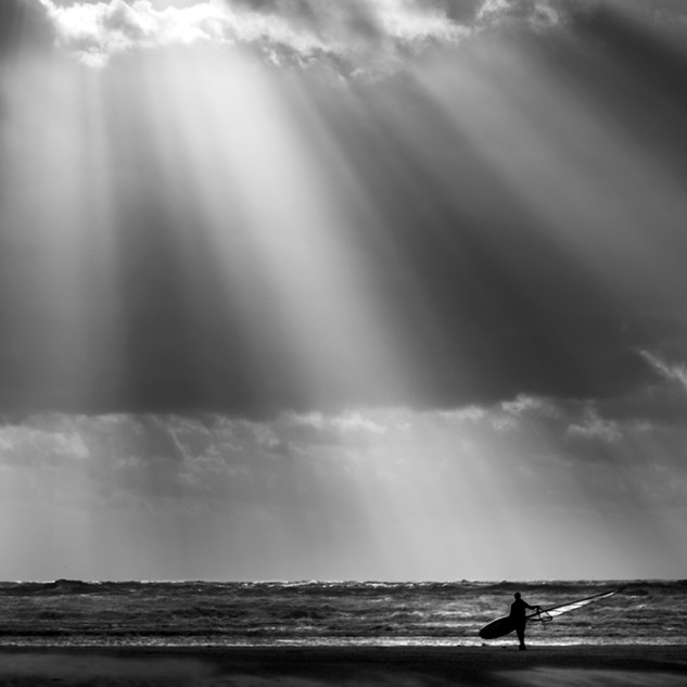 Lone Wind Surfer