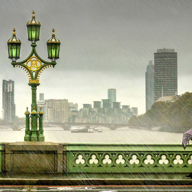 A Rainy Day on Westminster Bridge