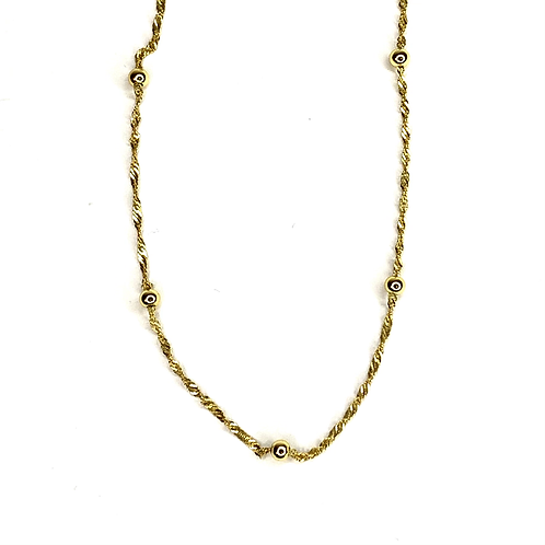 Gold Plated Ball Rope Necklace