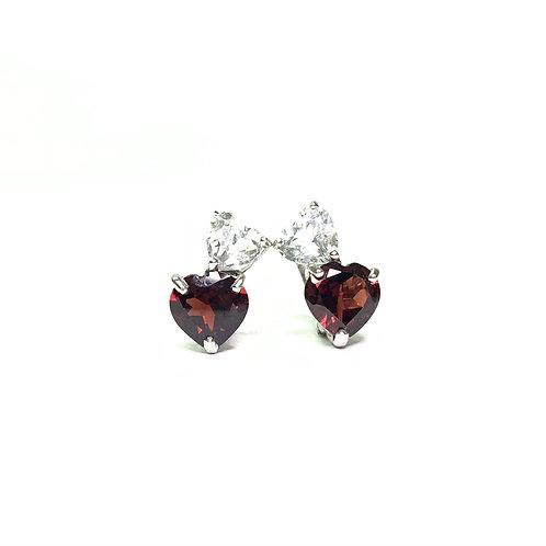 Two Hearts Earrings