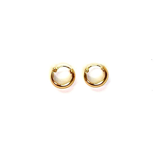 Gold plated mini hoops