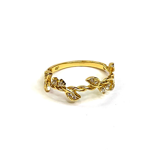 Branch Gold Plated Ring