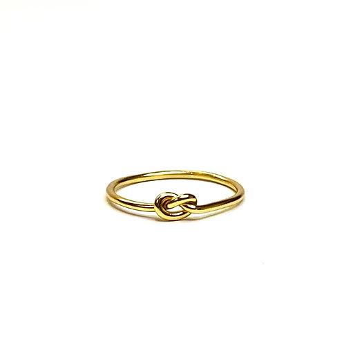 Gold plated Love Knot Ring