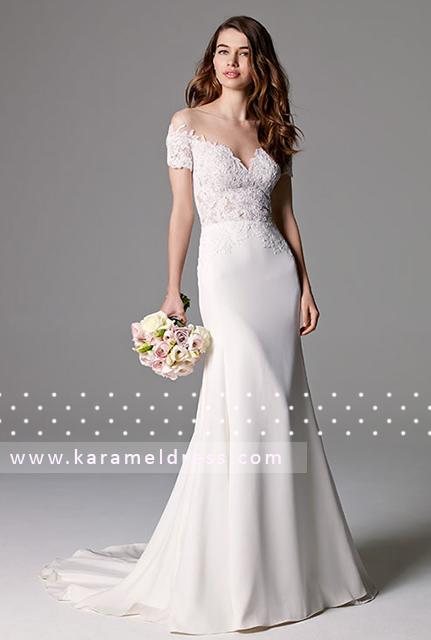 Свадебное платье прямое