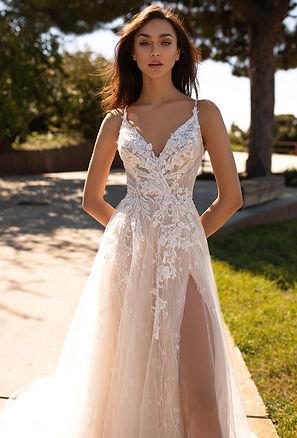 свадебное платье 202 купить киев, свадебные салоны киева,  свадебное платье с разрезом